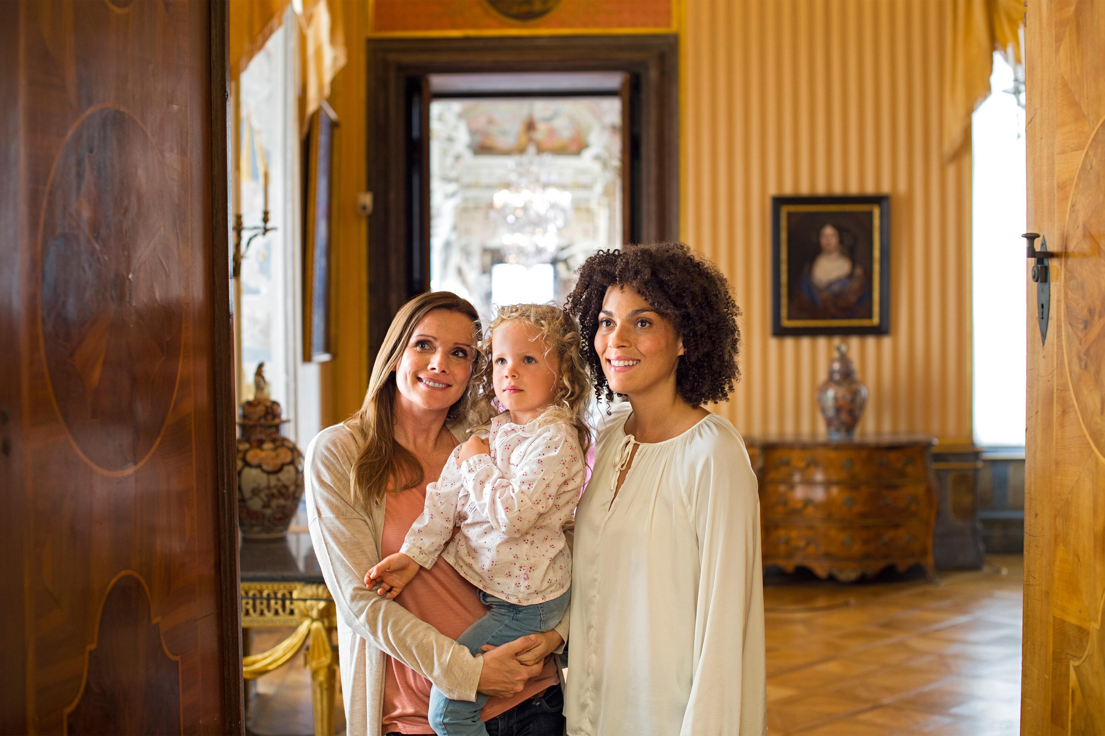 Familie in Residenzschloss Ludwigsburg
