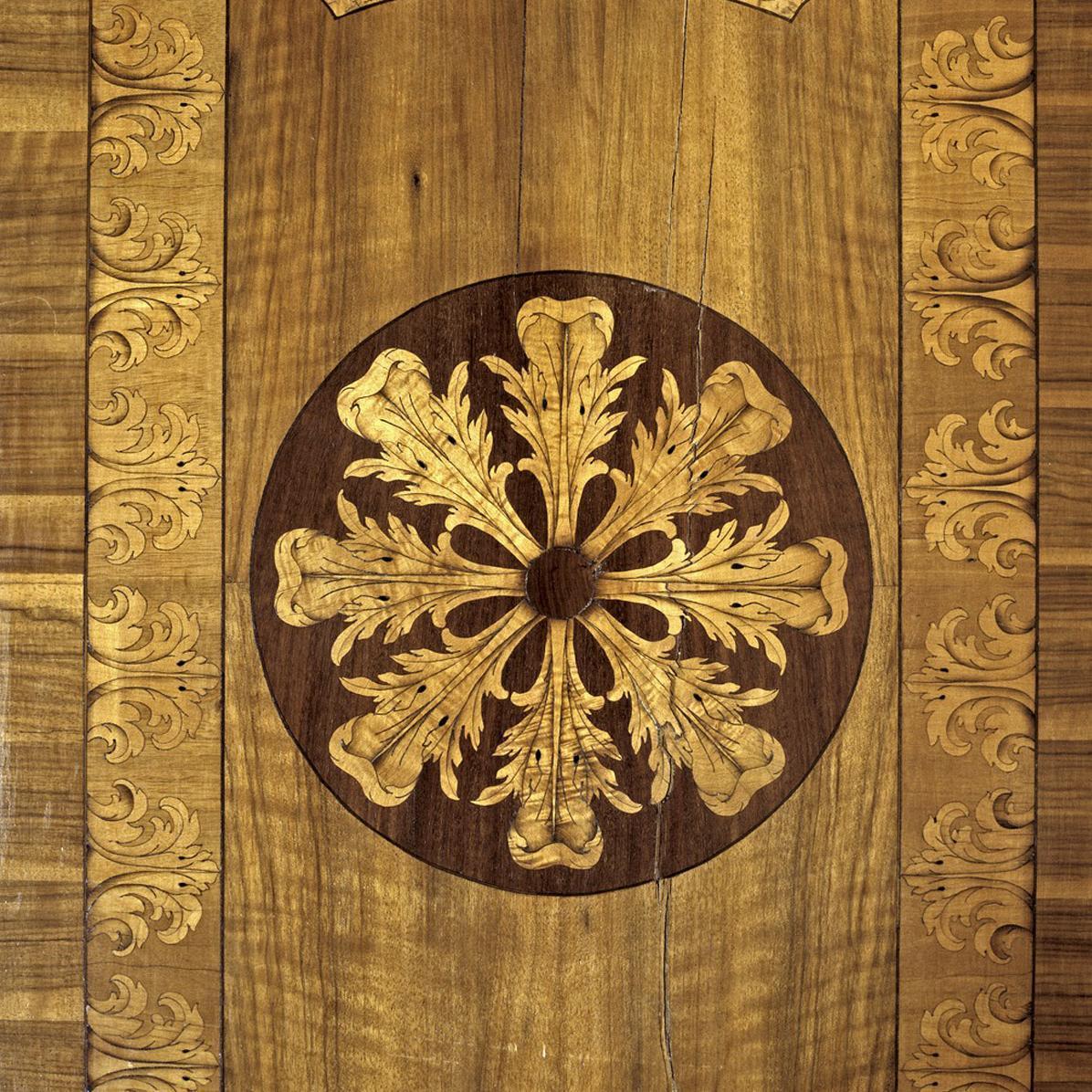 Details des Fußbodens im Marmorkabinett des Jagdpavillons des Residenzschlosses Ludwigsburg; Foto: Landesmedienzentrum Baden-Württemberg, Dieter Jäger