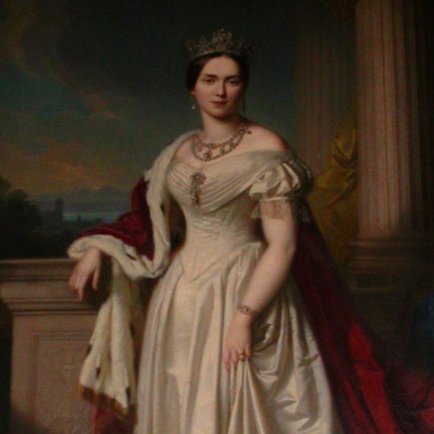 Königin Pauline auf einem Gemälde von Georg Friedrich Erhardt; Foto: Staatliche Schlösser und Gärten Baden-Württemberg, Ortsverwaltung Ludwigsburg