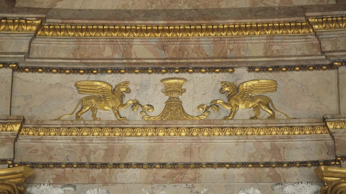 Ludwigsburg Residential Palace, wall décor in the Marble Hall; photo: Landesmedienzentrum Baden-Württemberg, Sven Grenzemann