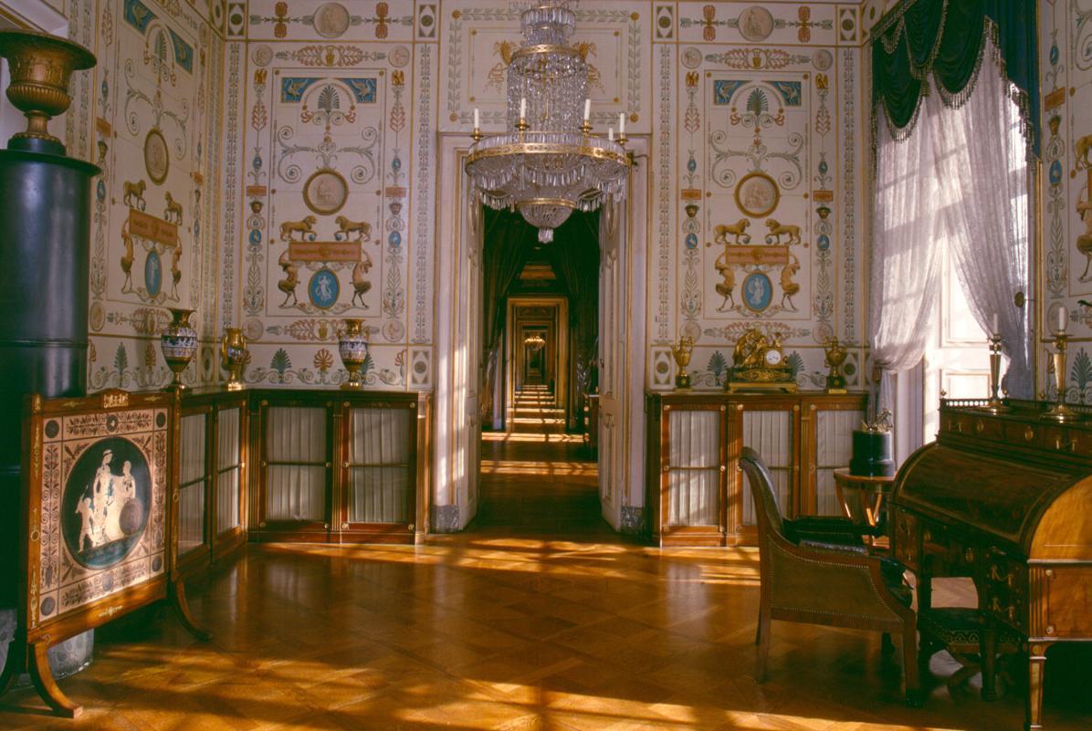Registraturzimmer König Friedrichs I. im Residenzschloss Ludwigsburg; Foto: Staatliche Schlösser und Gärten Baden-Württemberg, Steffen Hauswirth