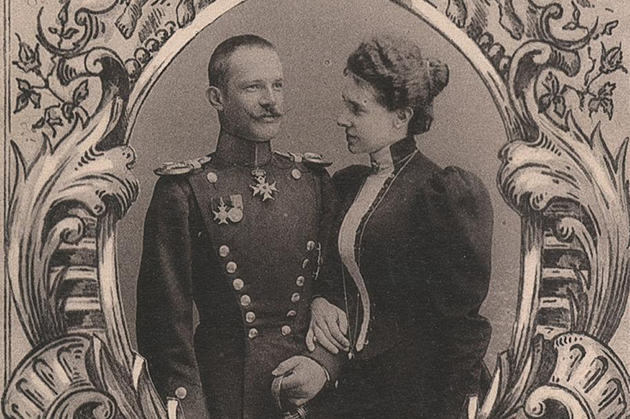 Detail of Maximilian and Olga's wedding photo. Image: Hauptstaatsarchiv Stuttgart