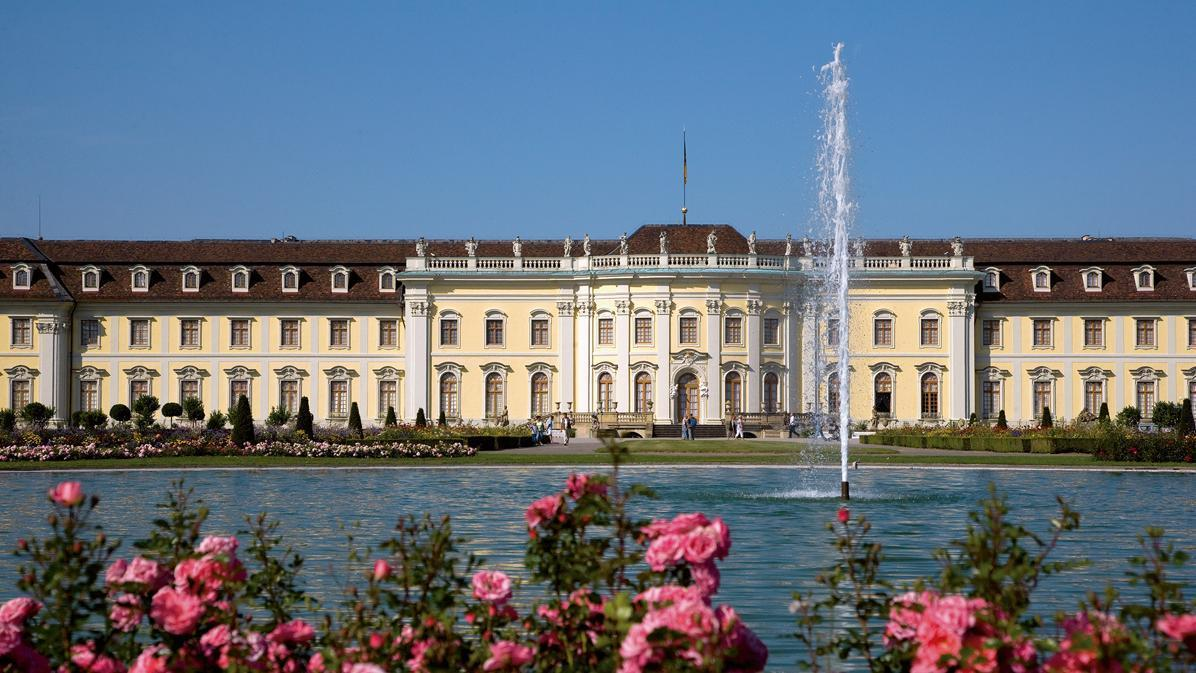 Gartenfassade des Neuen Hauptbaus; Foto: Staatliche Schlösser und Gärten Baden-Württemberg, Achim Mende