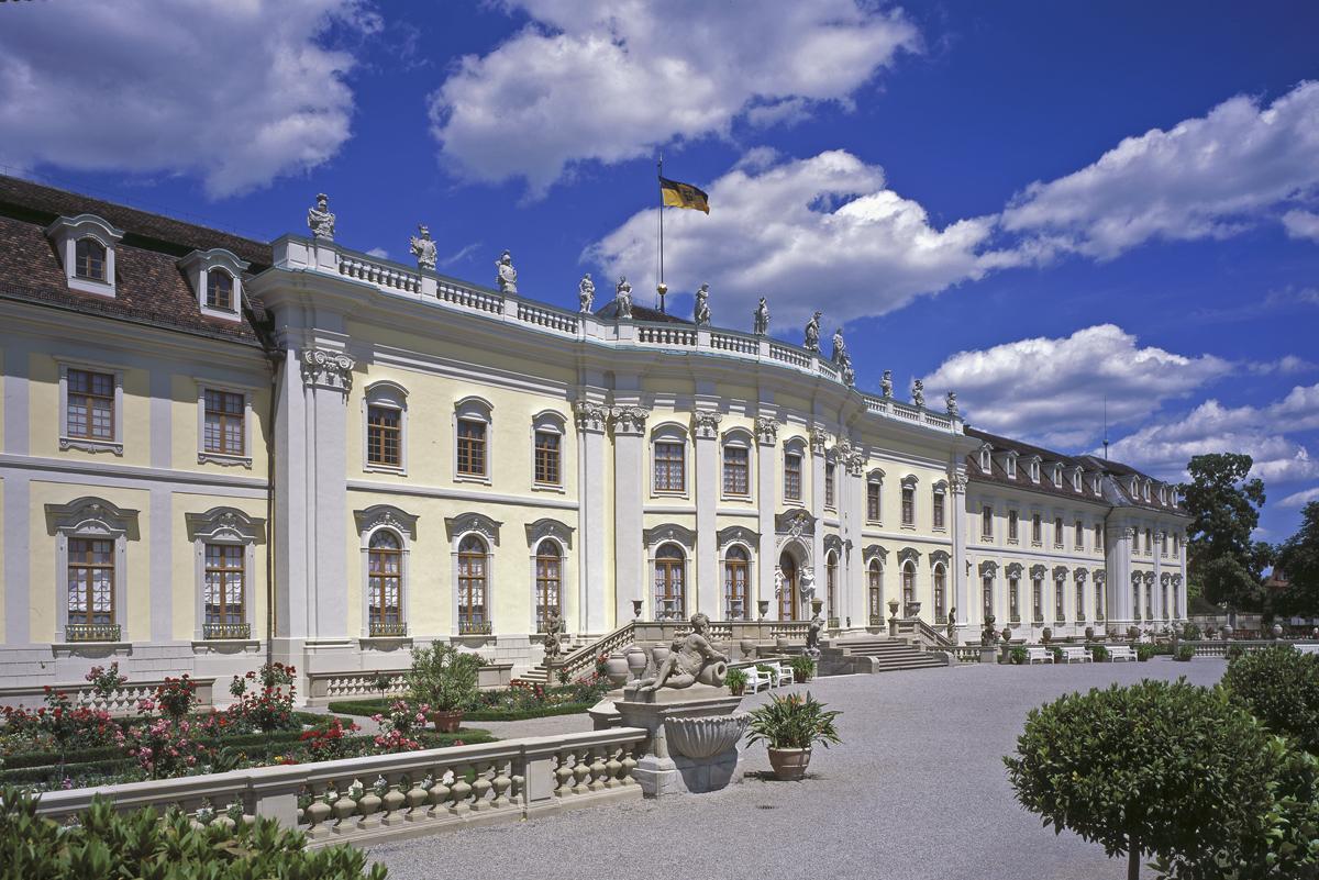 Ludwigsburg Residential Palace from the south. Image: Staatliche Schlösser und Gärten Baden-Württemberg, Ralf Cohen
