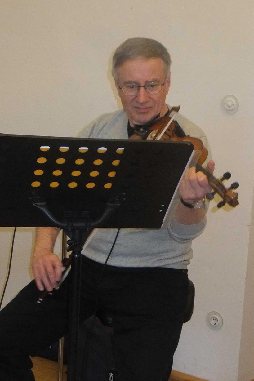 Hans-Eckhard Giebel (Violine); Foto: Dr. Eva Maria Schneider-Gärtner