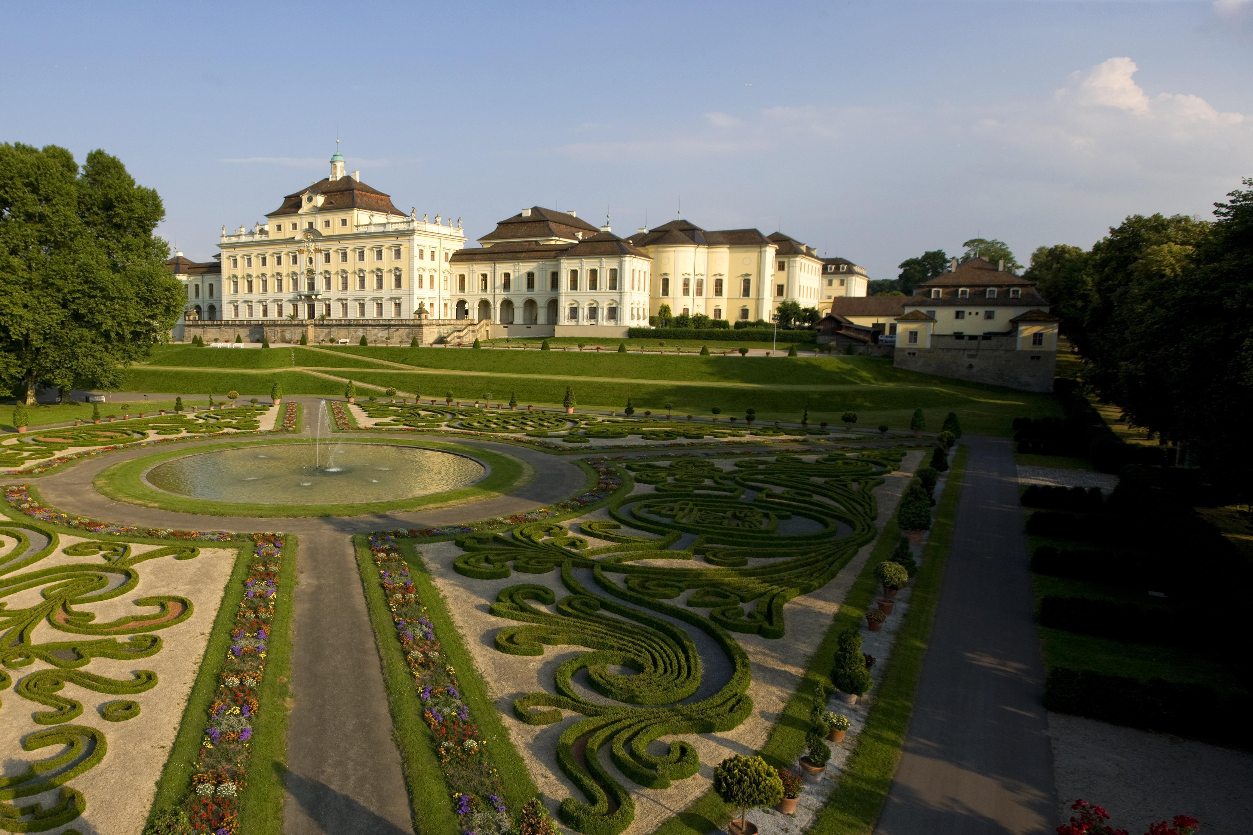 Old central building and kitchen building at Ludwigsburg Residential Palace. Image: Staatliche Schlösser und Gärten Baden-Württemberg, Achim Mende