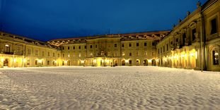 Ludwigsburg Residential Palace, fassade in winter