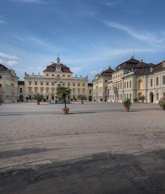 Residenzschloss Ludwigsburg, Ehrenhof; Foto: Staatliche Schlösser und Gärten Baden-Württemberg, Günther Bayerl