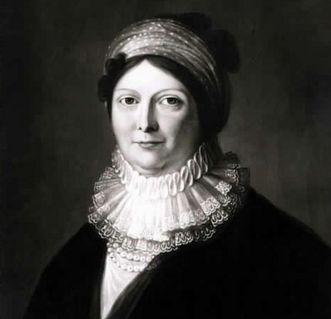 Gemälde der Königin Charlotte Mathilde mit Halskrause und Kopftuch von Johann Baptist Seele um 1800