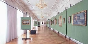 Image: View into the interior of the Baroque gallery at Ludwigsburg Residential Palace