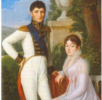 König Jérôme und Königin Katharina von Westfalen, Porträt von Sebastian Weygandt, 1810