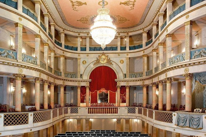Aperçu de l'intérieur du théâtre du château résidentiel de Ludwigsbourg