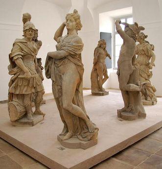Skulpturen im Lapidarium des Residenzschlosses Ludwigsburg; Foto: Staatliche Schlösser und Gärten Baden-Württemberg, Ortsverwaltung Ludwigsburg