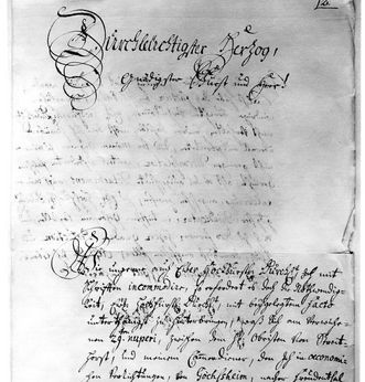 Letter from Wilhelmine von Grävenitz to Duke Eberhard Ludwig from 1731. Scan: Landesmedienzentrum Baden-Württemberg