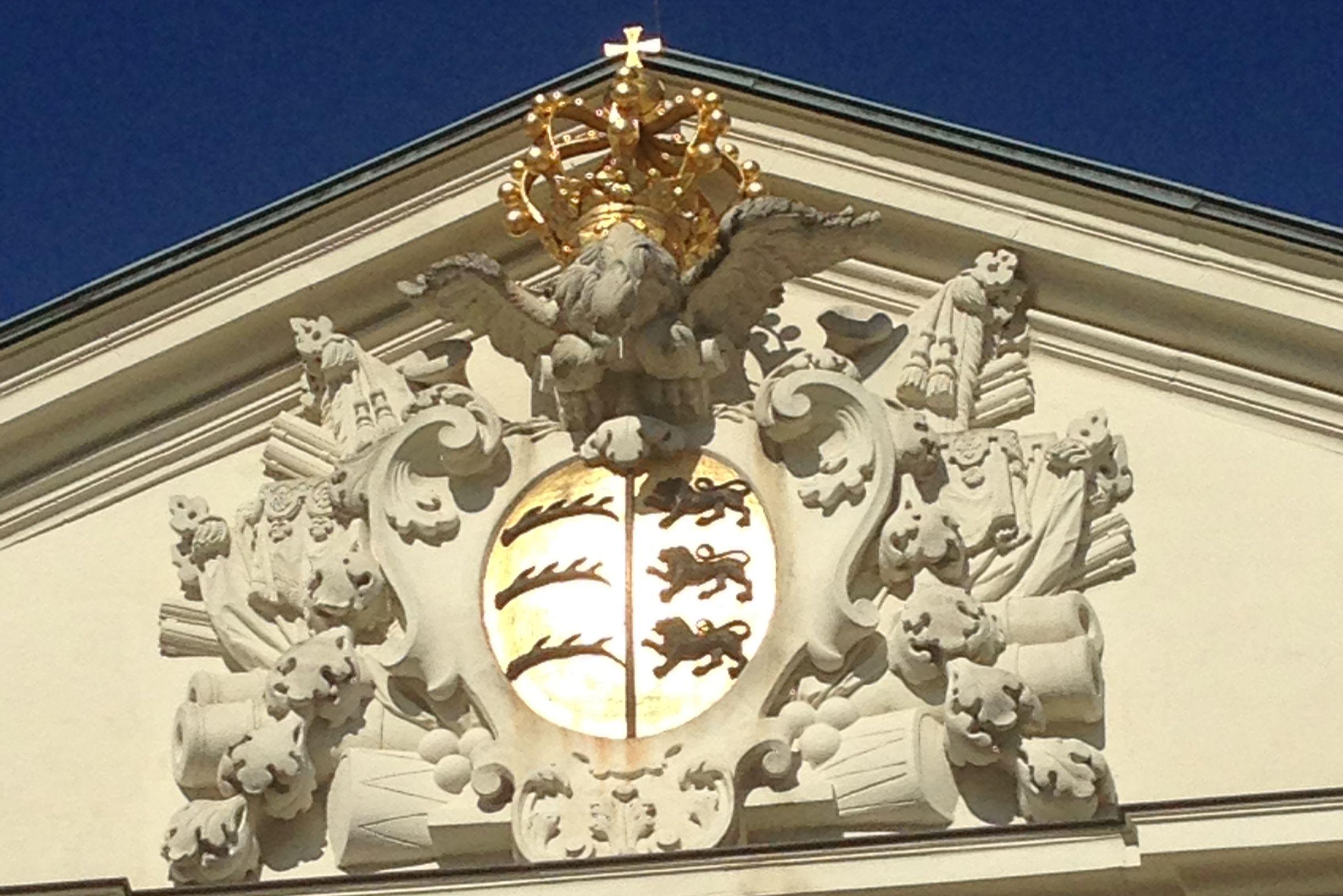 Das königliche Wappen; Foto: Staatsanzeiger für Baden-Württemberg, Eva Kobelt