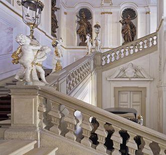 King Friedrich I's staircase in the new central building at Ludwigsburg Residential Palace. Image: Staatliche Schlösser und Gärten Baden-Württemberg, Steffen Hauswirth