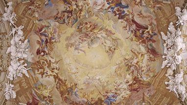 Ausschnitt aus dem Deckengemälde in der Schlosskapelle des Residenzschlosses Ludwigsburg; Foto: Landesmedienzentrum Baden-Württemberg, Steffen Hauswirth