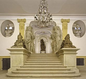 Image: Staircase in the grand building at Ludwigsburg Residential Palace