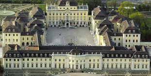 Luftansicht des Residenzschlosses Ludwigsburg