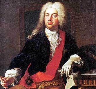 Graf Gustav Adolf von Gotter, Porträt von Martin van Meytens, 1732