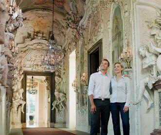 Besucher im Residenzschloss Ludwigsburg