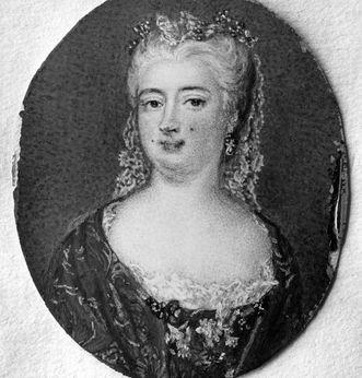 Portrait of Imperial Duchess Wilhelmine von Würben, nee Grävenitz. Scan: Landesmedienzentrum Baden-Württemberg