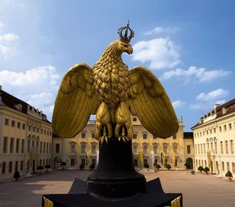 Golden eagle in Ludwigsburg. Image: Staatliche Schlösser und Gärten Baden-Württemberg, Achim Mende