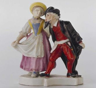 Couple made of Ludwigsburg porcelain, ceramics museum at Ludwigsburg Residential Palace. Image: Landesmuseum Württemberg