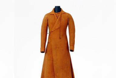 Wattierter Morgenmantel aus dem Modemuseum im Residenzschloss Ludwigsburg;