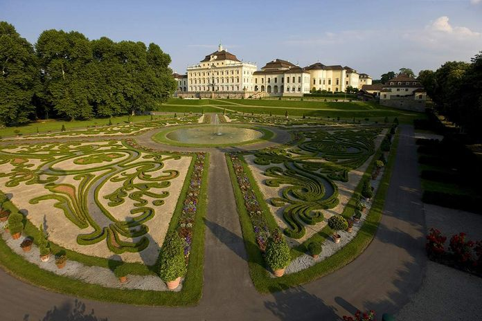 Ludwigsburg Palace,Aerial view of the palace gardens