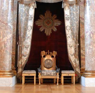 Residenzschloss Ludwigsburg, Thron im Ordenssaal