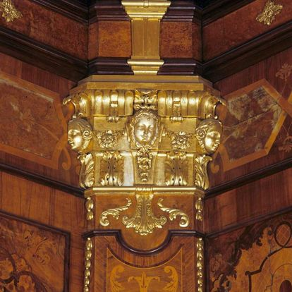 Image: Detail of the boiserie cabinet in the hunting pavilion at Ludwigsburg Residential Palace