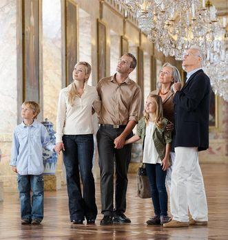 Visitors at Ludwigsburg Residential Palace; photo: Staatliche Schlösser und Gärten Baden-Württemberg, Niels Schubert