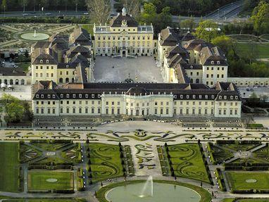 Residenzschloss Ludwigsburg von oben