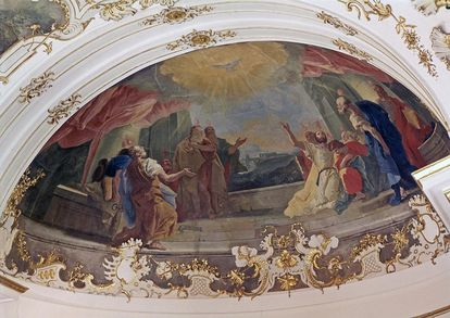 "Ceiling painting ""The Outpouring of the Holy Spirit"" by Livio Retti in the order chapel at Ludwigsburg Residential Palace. Image: Landesmedienzentrum Baden-Württemberg, Dieter Jäger"