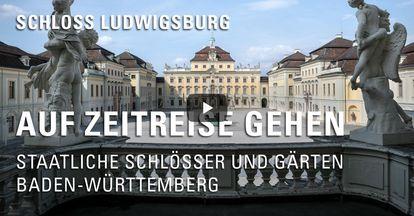 """Startbildschirm des Filmes """"Zeitreise mit Michael Hörrmann: Schloss Ludwigsburg"""""""