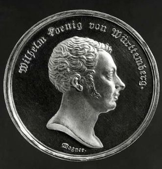 Medal of King Wilhelm I, created for the 1819 constitution. Image: Landesmedienzentrum Baden-Württemberg, Dieter Jäger