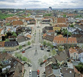 Blick über die Stadt Ludwigsburg; Foto: Landesmedienzentrum Baden-Württemberg, Sven Grenzemann