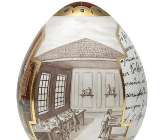 View into the factory, anniversary egg for the porcelain factory's 255th anniversary. Image: Porzellanmanufaktur Ludwigsburg GmbH
