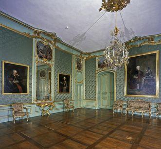 Première antichambre de l'appartement du duc CarlEugen au château résidentiel de Ludwigsbourg; crédit photo: Staatliche Schlösser und Gärten Baden-Württemberg, ArnimWeischer