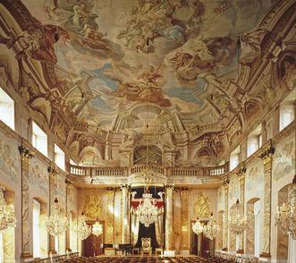 Salle des ordres au château résidentiel de Ludwigsbourg; crédit photo: Staatliche Schlösser und Gärten Baden-Württemberg, DavidFranck