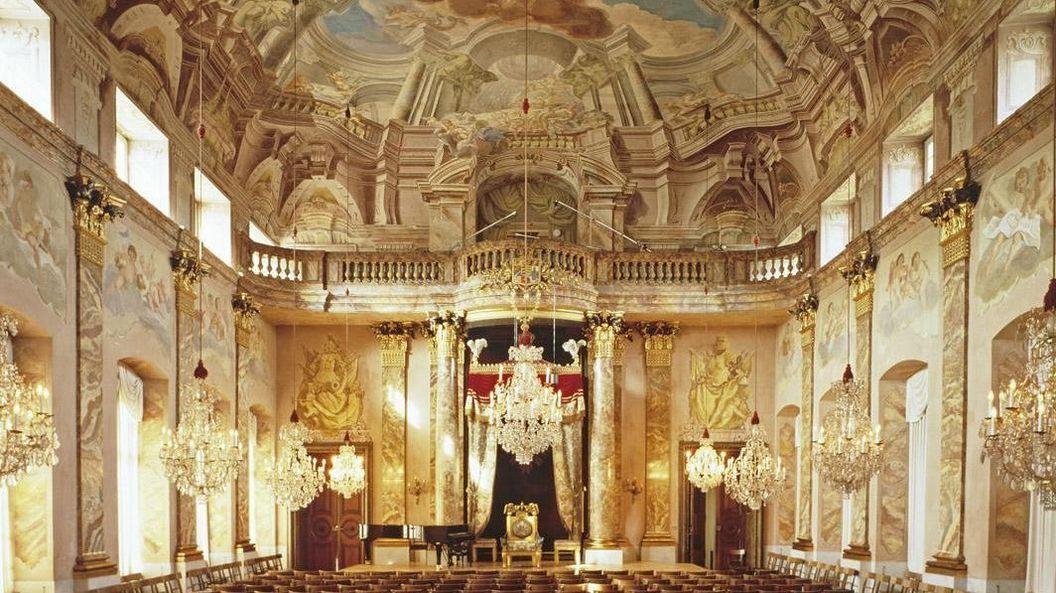 Order hall at Ludwigsburg Residential Palace. Image: Staatliche Schlösser und Gärten Baden-Württemberg, David Franck