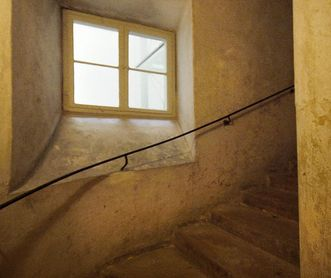 Servants stairs in the new central building at Ludwigsburg Residential Palace. Image: Chris Korner