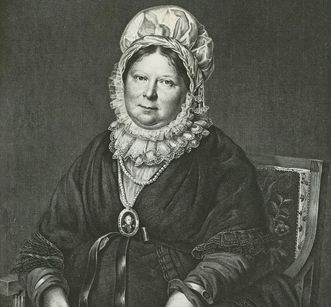 Copper engraving of Queen Charlotte Mathilde von Rist based on a painting by Franz Seraph Stirnbrand. Image: Landesmedienzentrum Baden-Württemberg, Robert Bothner