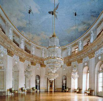 The Marmorsaal of Ludwigsburg Residential Palace; photo: Staatliche Schlösser und Gärten Baden-Württemberg, copyright unknown