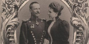 Detail des Hochzeitsfotos von Maximilian und Olga
