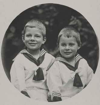 Prince Maximilian and Princess Olga's sons. Image: Württembergische Landesbibliothek