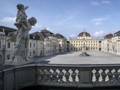 Residenzschloss Ludwigsburg, Blick von Balkon