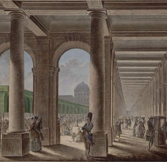 Aquarell des Palais Royal, nach 1780